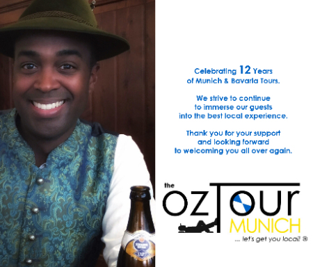 Ozzie at ozTour Munich celebrating 12th Anniversary